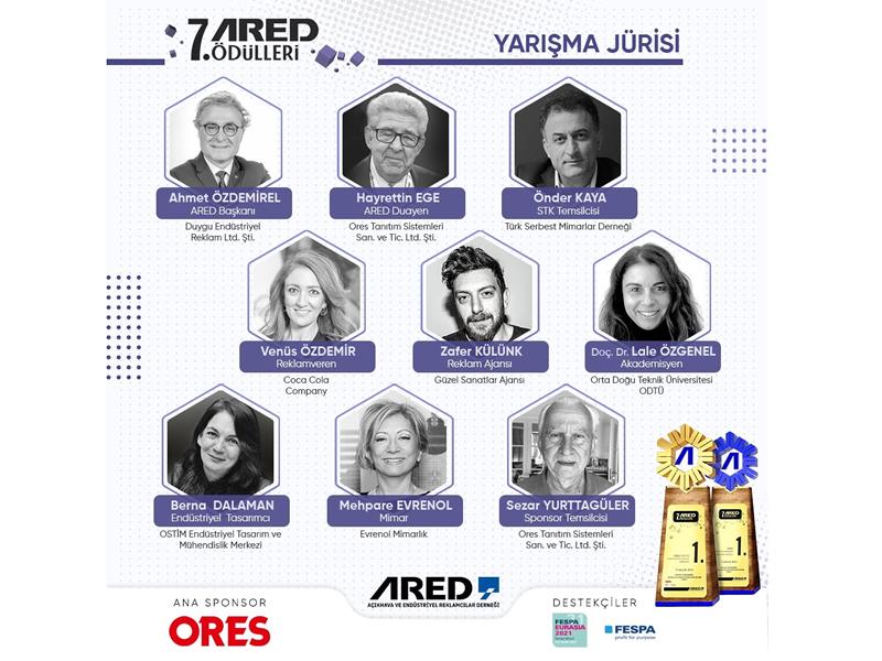ORES ana sponsorluğunda düzenlenen 7. ARED Ödülleri'21 jürisi açıklandı!