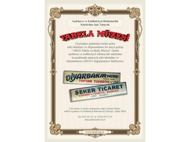 ARED Tabela ve Baskı Müzesi için tarihi tabelaları ve imalat ekipmanlarını arıyor!