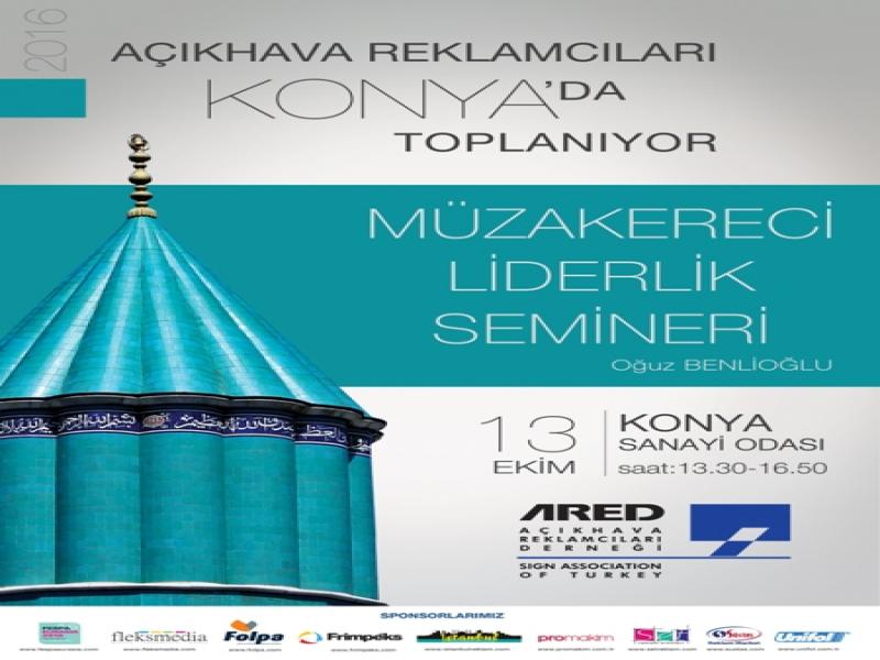 13 Ekim'de Konya'dayız