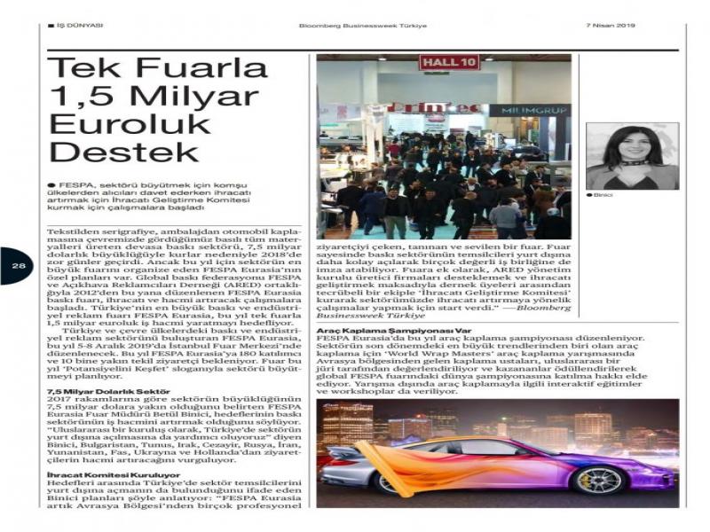 FESPA Eurasia Bloomberg Businessweek Türkiye Haberi