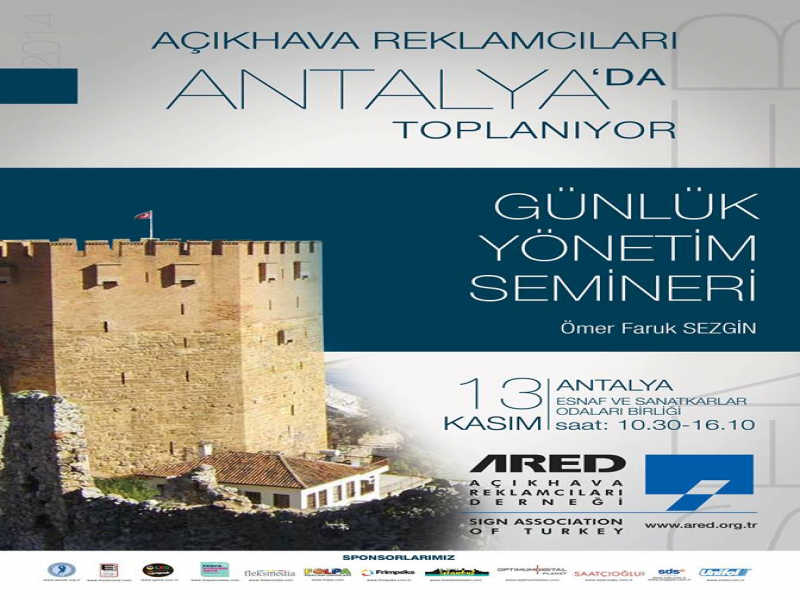 ARED 13 Kasım'da Antalya'da