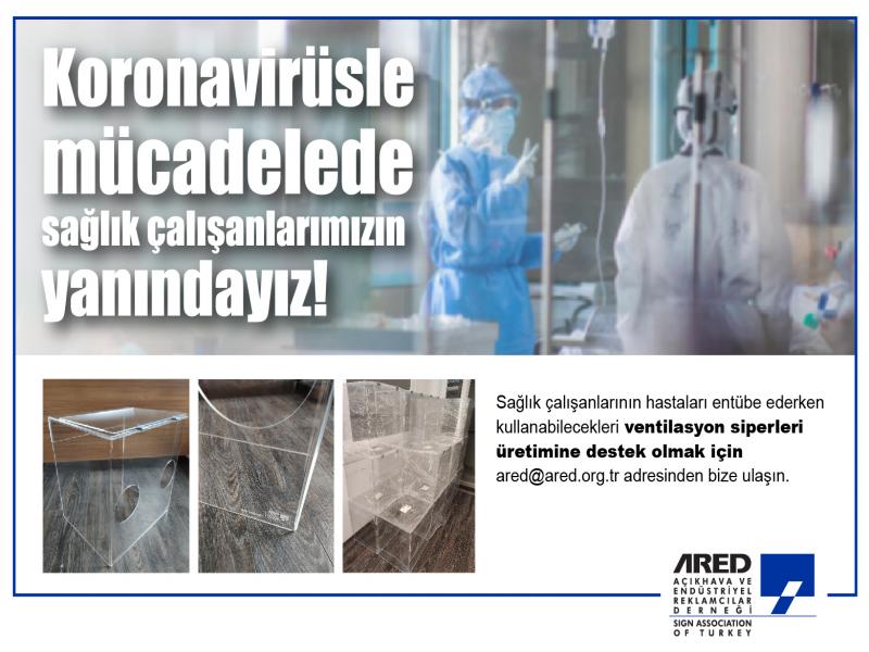 ARED, sağlık çalışanları için Koronavirüs kalkanı üretti