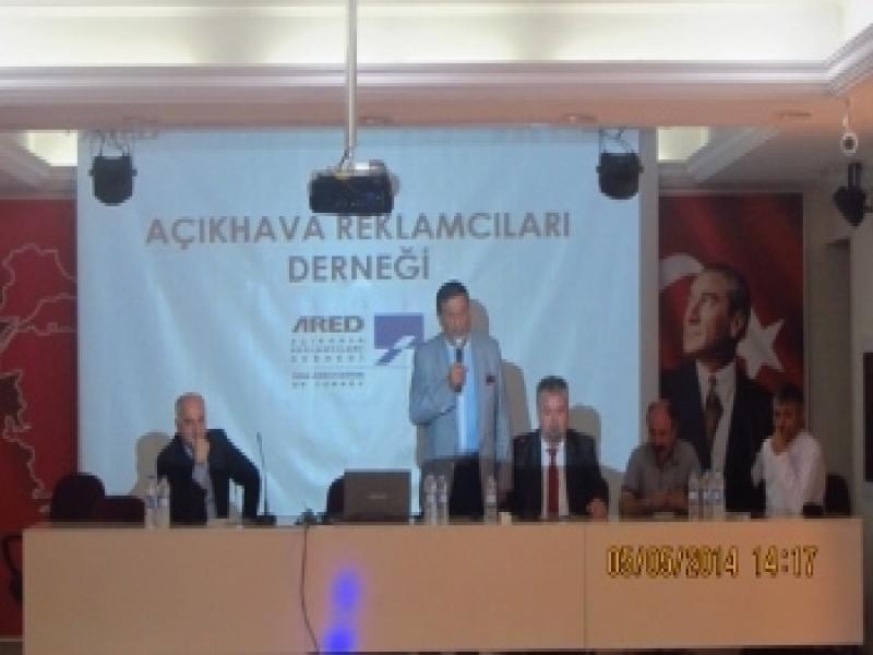 İzmir Mersinli T.E.M.L.'de ARED ve Endüstriyel Reklamcılık Tanıtım Toplantısı Yapıldı