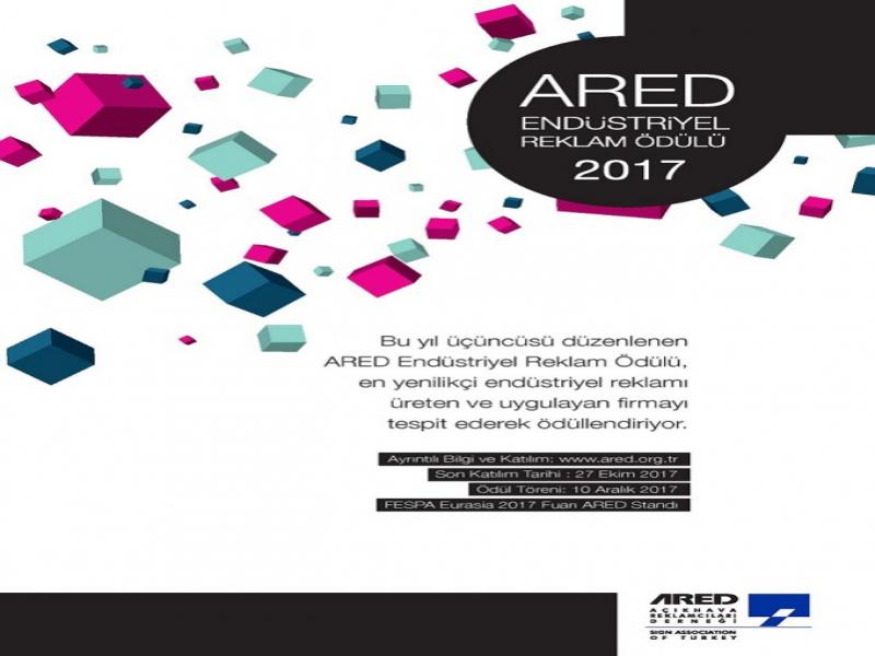 2017 ARED Endüstriyel Reklam Ödülü için Başvurular Açıldı