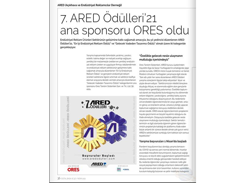 7. ARED Ödülleri'21 ana sponsoru ORES oldu