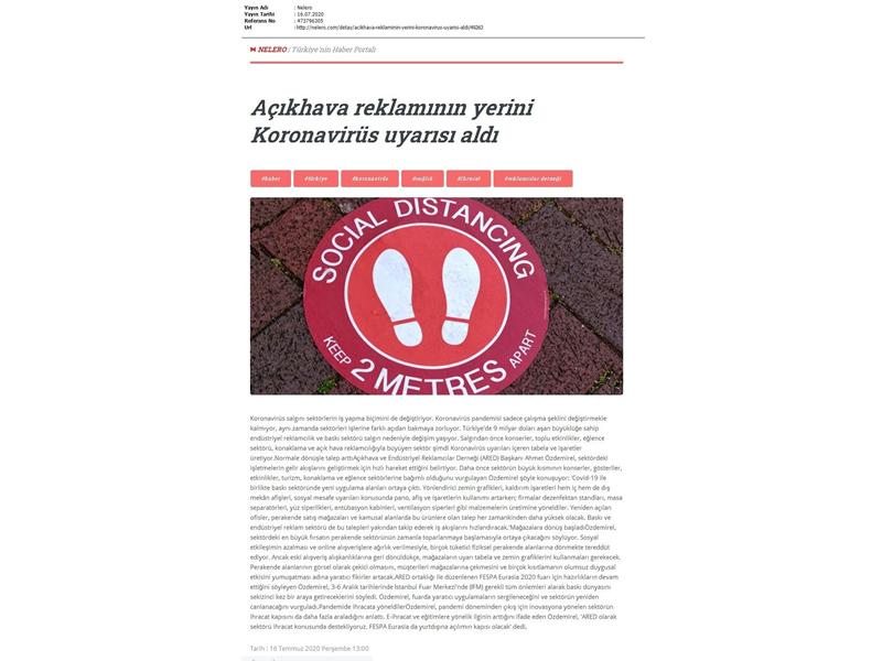 Açıkhava reklamının yerini Koronavirüs uyarısı aldı