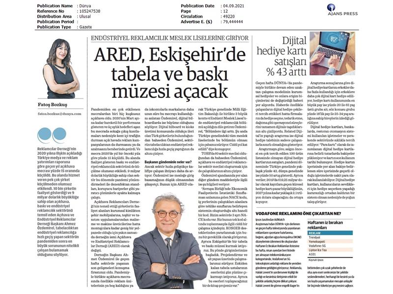 ARED, Eskişehir'de tabela ve baskı müzesi açacak