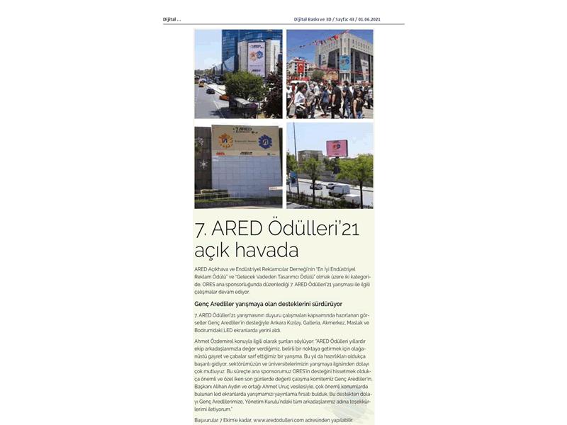 7. ARED Ödülleri'21 açık havada