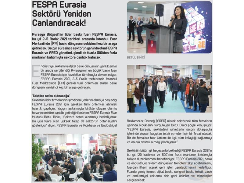 Baskı sektörü, FESPA Eurasia fuarını bekliyor