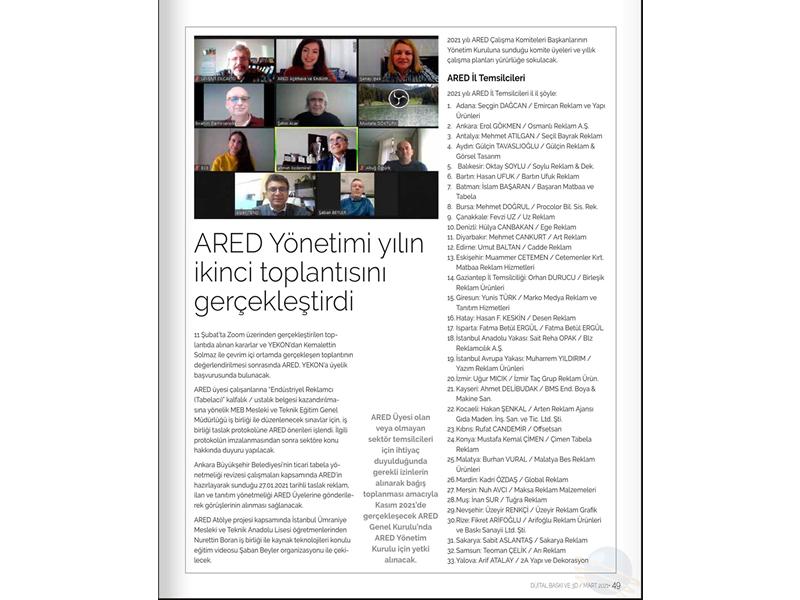 ARED Yönetimi yılın ikinci toplantısını gerçekleştirdi