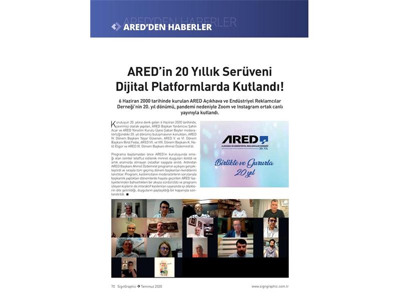 ARED'in 20 Yıllık Serüveni Dijital Platformlarda Kutlandı!