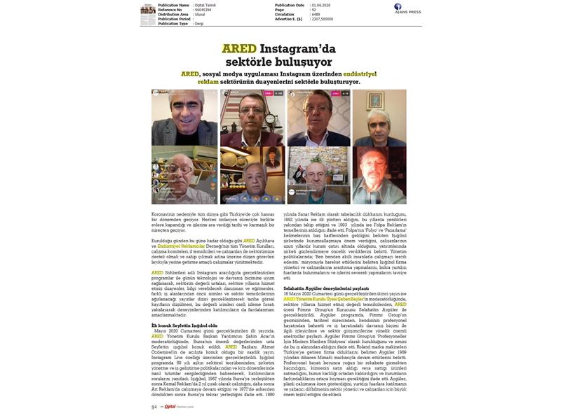 ARED Instagram'da sektörle  buluşuyor