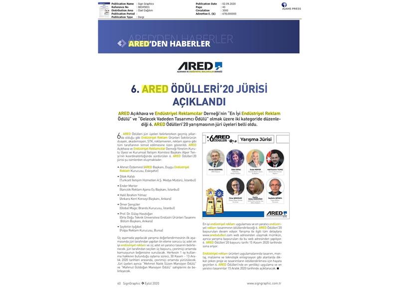 ARED Ödülleri'20 jürisi açıklandı