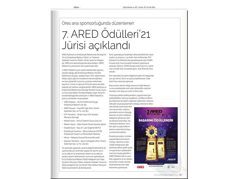7. ARED Ödülleri'21 Jurisi açıklandı