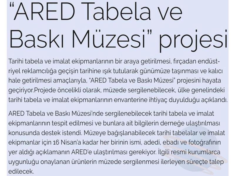 ARED Tabela ve Baskı Müzesi projesi