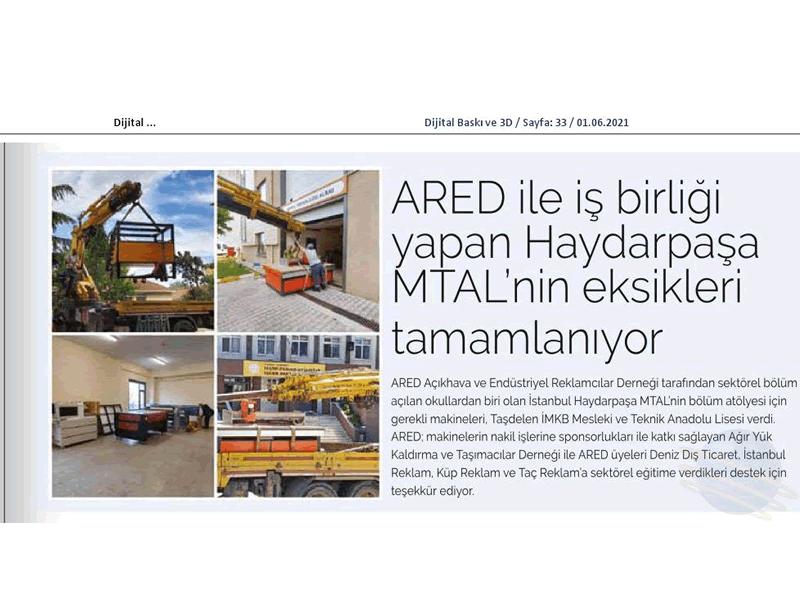 ARED ile iş birliği yapan Haydarpaşa MTAL'nin eksikleri tamamlanıyor